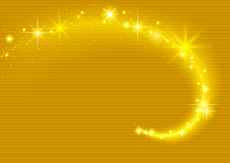 flux: Gold Background with Sparkling Stream Effect - Abstract Illustration Illustration
