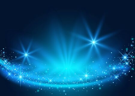 Magic Christmas Background with Sparkling Stream Effect - Abstract Illustration