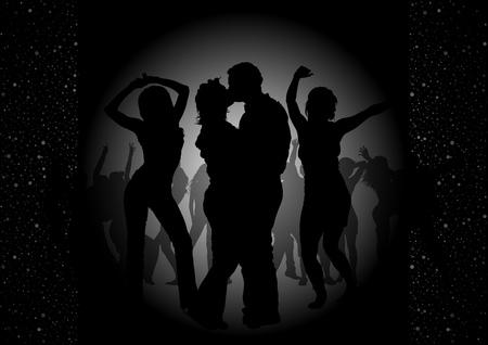 Invitation Dance Party - Fond noir Illustration