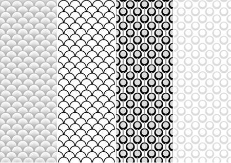 geometrical pattern: Seamless Pattern Set - Repetitive Geometrical Illustration