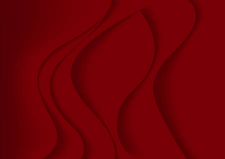 curve creative: Red Abstract Background with Curves Lines and Shadows - Illustration for Website Design, Booklet and Brochure