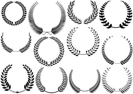 wreaths: Laurel Wreaths Collection - Black Illustrations