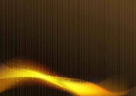 caoba: Resumen líneas que brillan sobre fondo marrón caoba - Ilustración