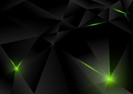 black background: Black Lightning Crystals Background - Abstract Illustration Illustration