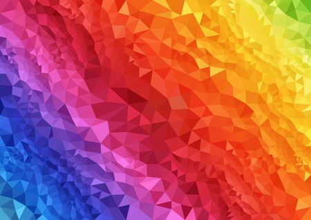 rainbow background: Abstract Rainbow Geometric Background with Triangular Polygons - Illustration