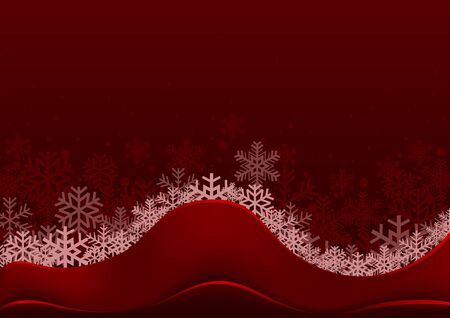 Red Christmas Greeting with Snowflakes - Abstract Background Illustration, Vector