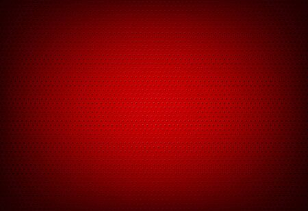 Red Perforated Metal Grid Background - Wire Mesh Pattern, Vector