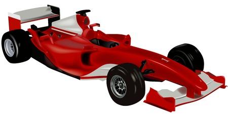 F1 スポーツ車 - 着色されたイラスト、ベクトル  イラスト・ベクター素材
