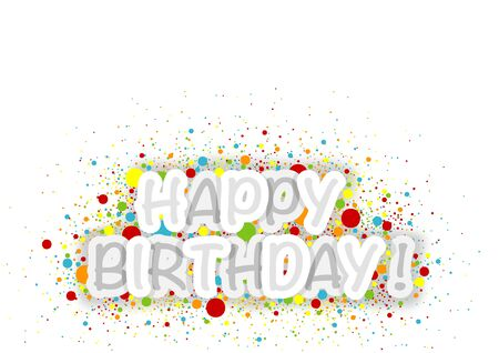 Happy Birthday banner Background with Colorful Dots - Abstract Illustration, Vector Stock fotó - 91332027