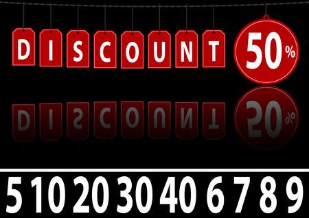Discount Website Banner - Stylish Design Element for Graphics, Vector Ilustração