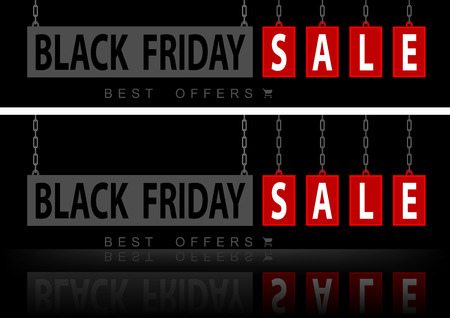 Website banners black Friday - stylish design element for your graphics. Vector illustration. Ilustração