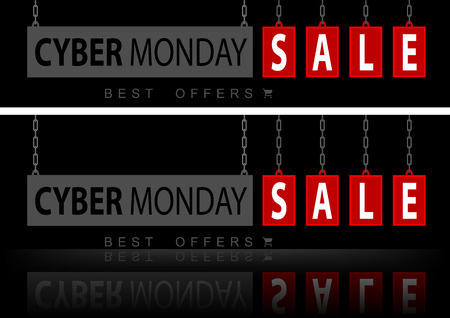 Website Banners Cyber Monday - Stylish Design Element for Your Graphic, Vector