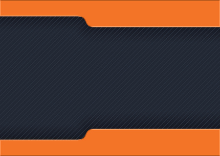 Dark Striped Background with Orange Strips - Modern Abstract Illustration for Web Site or Visiting Card, Vector