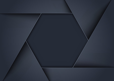 Metallic Gray Background Formed as Hexagonal Shape - Abstract Geometrical Illustration, Vector Graphic
