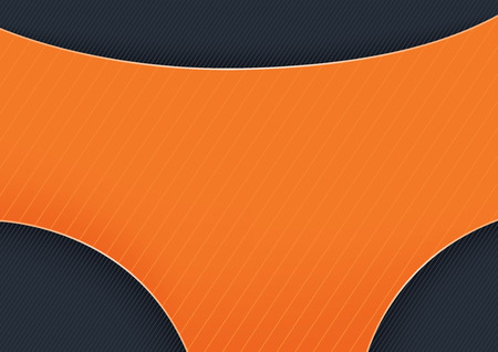 Orange Graphic Shape on Dark Stripped Background - Abstract Illustration for Your Design, Website, Visiting Card or Flyer, Vector