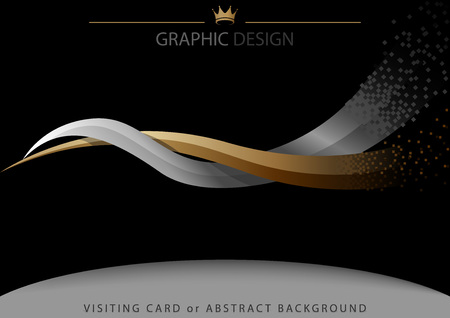 Abstract Background with Two Intertwined Stripes - Modern Illustration for Graphic Design or Visiting Card or Leaflet, Vector 版權商用圖片 - 101077783