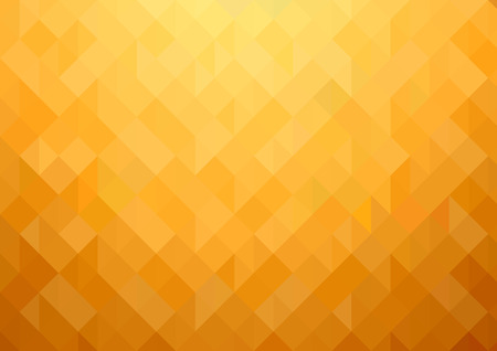 Gold-orange Mosaic Background - Abstract Geometric Illustration for Graphic Design, Visit Card, Leaflet and More, Vector Illustration