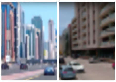 Blurred Images from City - Illustrative Design Element for Your Graphic Concept, Vector