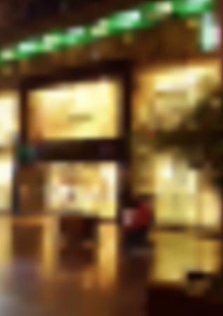 조명 상점 창문이있는 흐린 밤 거리-그래픽 개념에 대한 설명 이미지, 벡터 일러스트 레이션