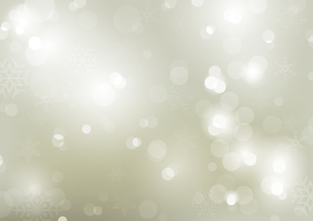 Christmas Bokeh Background with Snowflakes - Abstract Illustration with Glittering Effect, Vector