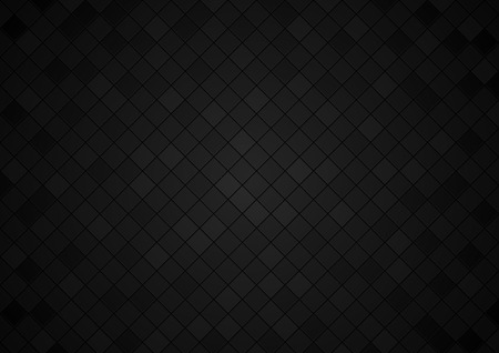 Squared Tiled Background in Black Tones - Mosaic Background with Edge Details, Decorative Vector Illustration