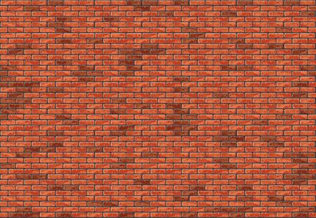 Red Brick Wall Seamless Background - Colored Pattern or Texture for Your Graphic Illustration, Vector Archivio Fotografico - 126120576