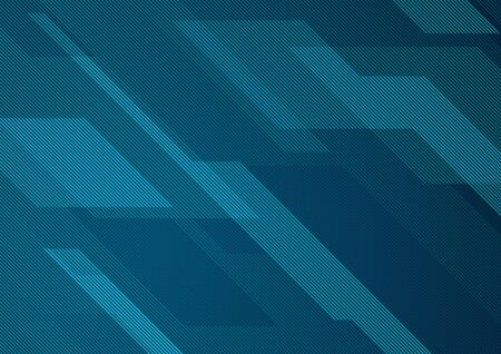 Abstract Striped Graphic Background with Geometric Pattern - Modern Illustration for Your Designs, Vector