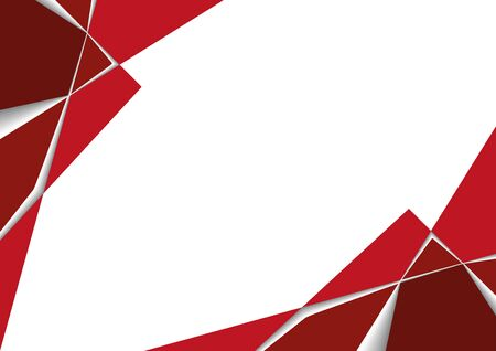 Red Geometric Background with Layers and Shadows - Simple Modern Graphic Illustration for Your Designs, Vector