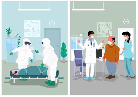 Illustration médicale du cabinet médical et de l'hôpital.