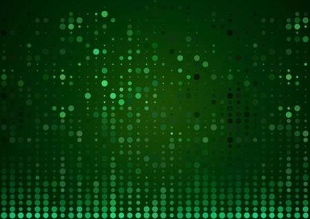 Green Abstract Halftone Background - Modern Illustration with Dotted Pattern for Your Graphic Design, Vector Ilustração