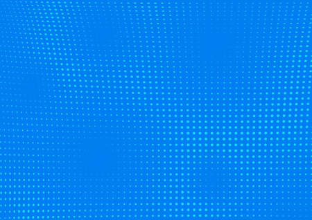 Blue Dotted Pop-art Halftone Background Illustration - Modern Graphic Design Element for your Projects, Vector