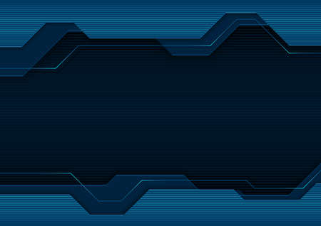 Blue Abstract Tech Background with Decorative Linear Pattern - Modern Geometric Graphic Illustration, Vector 矢量图像