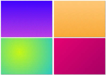 Set of Backgrounds with Striped Pattern and Colored Gradient - Four Graphic Designs as Vector Illustration