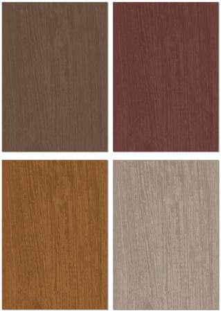 Set of Four Wood Texture Background - Wooden Illustration Patterns for Flyer or Leaflet or Brochure or Website or Presentation and etc., Vector Illusztráció