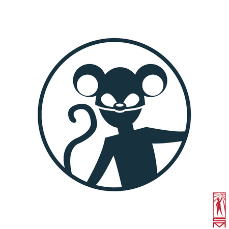 basic figure: Man Person Basic body position Stick Figure Icon silhouette vector sign,Happy Chinese New Year, new year, monkey, year of the monkey 2016, a monkey, a symbol of Chinese, Oriental,