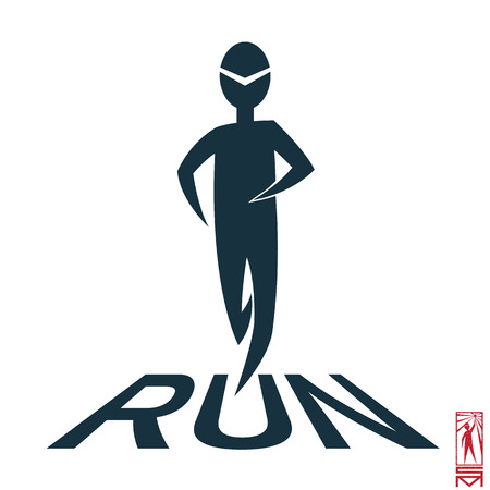 basic figure: Man Person Basic body position Stick Figure Icon silhouette vector sign,sport, runner, jogging, health, joy, athlete, running, run