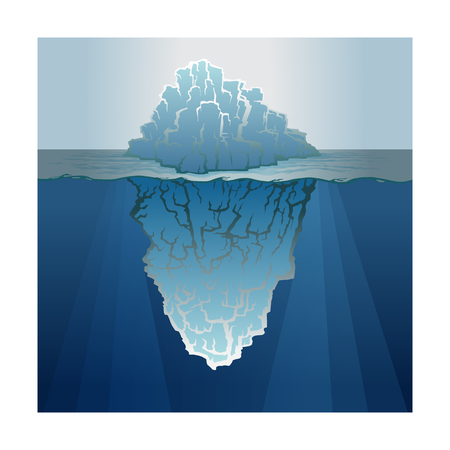 Color image of an iceberg in water. Illusztráció
