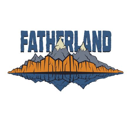 Fatherland, land of the ancestors, the native land, native shore, rocks, home,