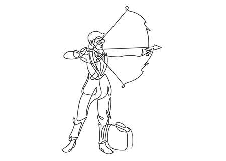 7312 Archery Silhouette Stock Vector Illustration And Royalty Free