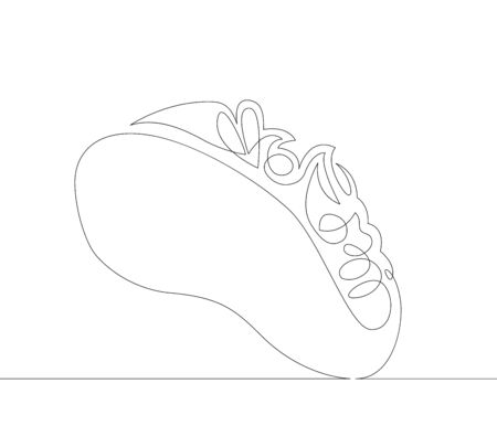 One continuous single line art doodle of a taco.