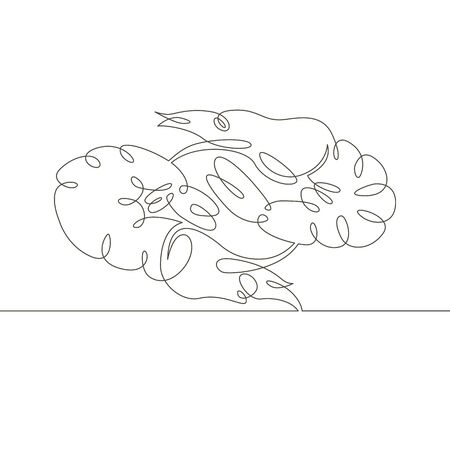 One continuous single drawn line art doodle two boiled tiger prawns   . Isolated image  hand drawn