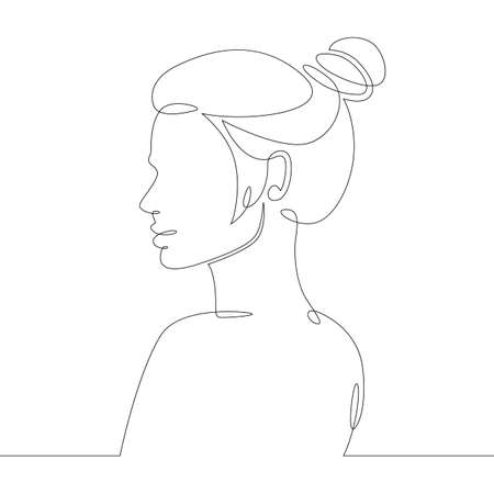 Girl profile drawing