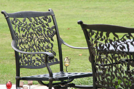 patio chairs: patio chairs Stock Photo