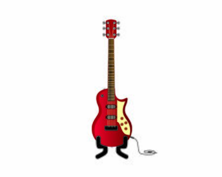 Detailed and Realistic Electric Guitar and Bass Illustration