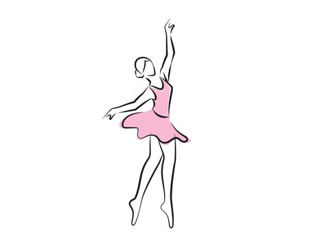 Ballet Dancer or Ballerina Dancing Silhouette