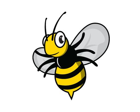 Cute and Sweet Flying Bee Illustration