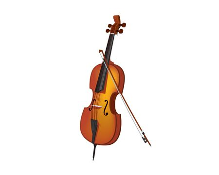Detailed and Realistic Violin Illustration Vector Illustration