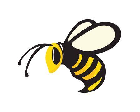 Flying Bee Illustration