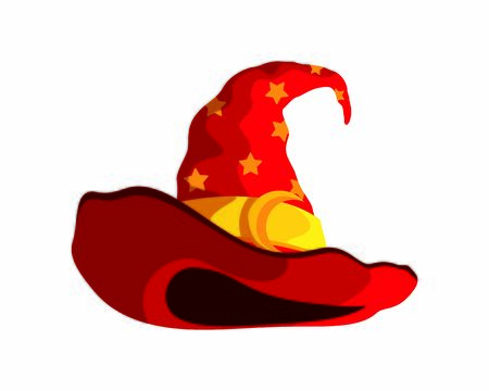 Red Wizard Hat with Stars Symbol Included