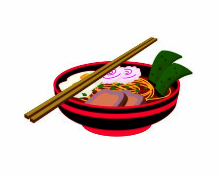 Detailed Ramen with Chopsticks Illustration Archivio Fotografico - 142085399